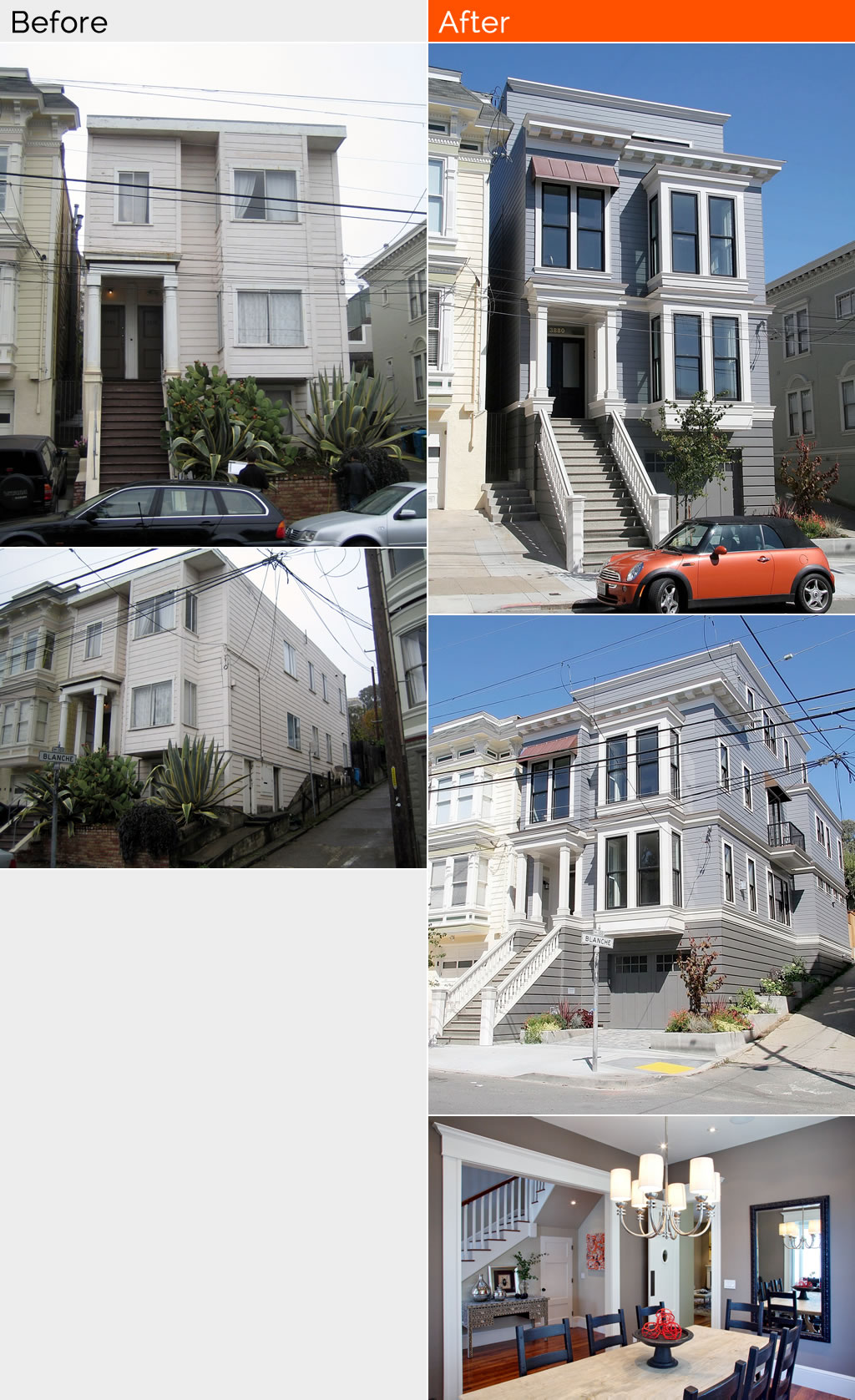 Before and After Remodel - Noe Valley, San Francisco
